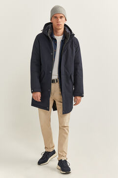 Springfield LONG WATER-REPELLENT PARKA WITH DUPONT™ SORONA® KEEP IT WARM! PADDING navy