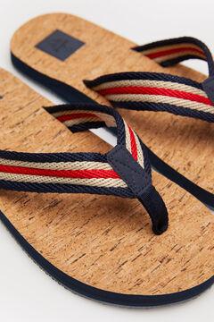 Springfield Cork sole flip-flops navy