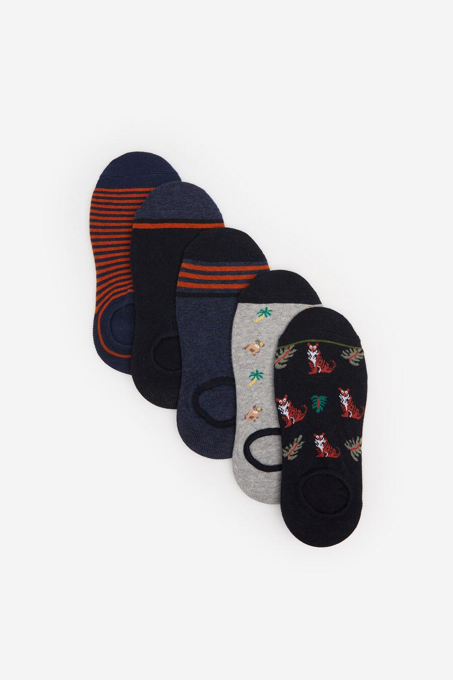 Lot 5 chaussettes invisibles