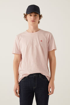 Springfield Micro-striped t-shirt pink