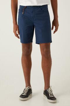Springfield Bermuda slim 5 bolsillos lavada azul