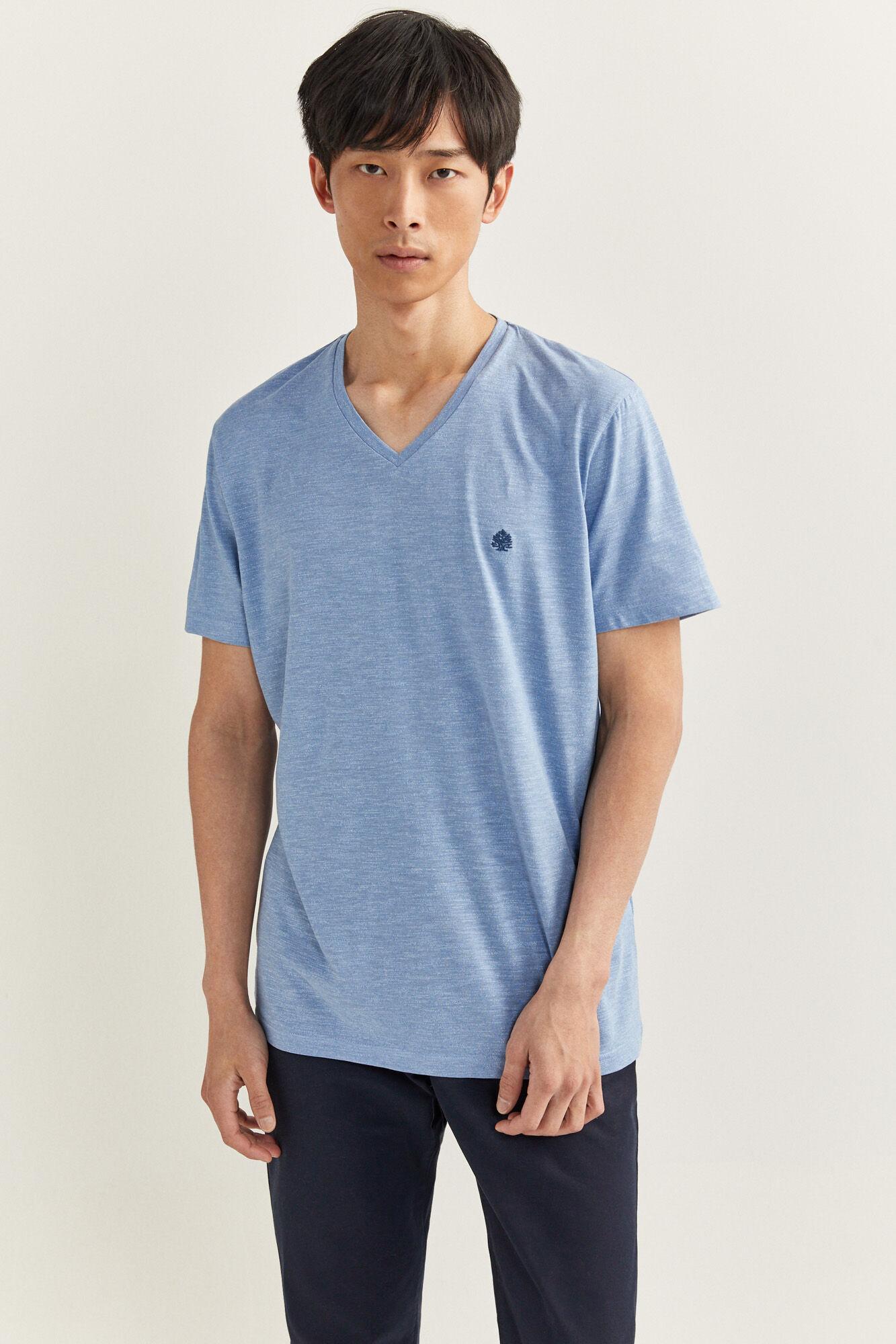 T Shirt V Ausschnitt Struktur | Camisetas | Springfield Man & Woman