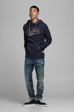 Springfield Sustainable kangaroo sweatshirt bluish