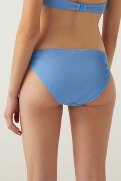 Springfield Ribbed bikini bottoms indigo blue