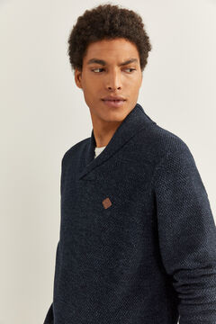 Springfield HIGH NECK MOTTLED JUMPER blue