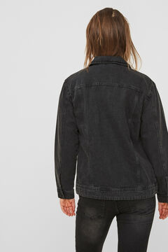 Springfield Oversize denim jacket black