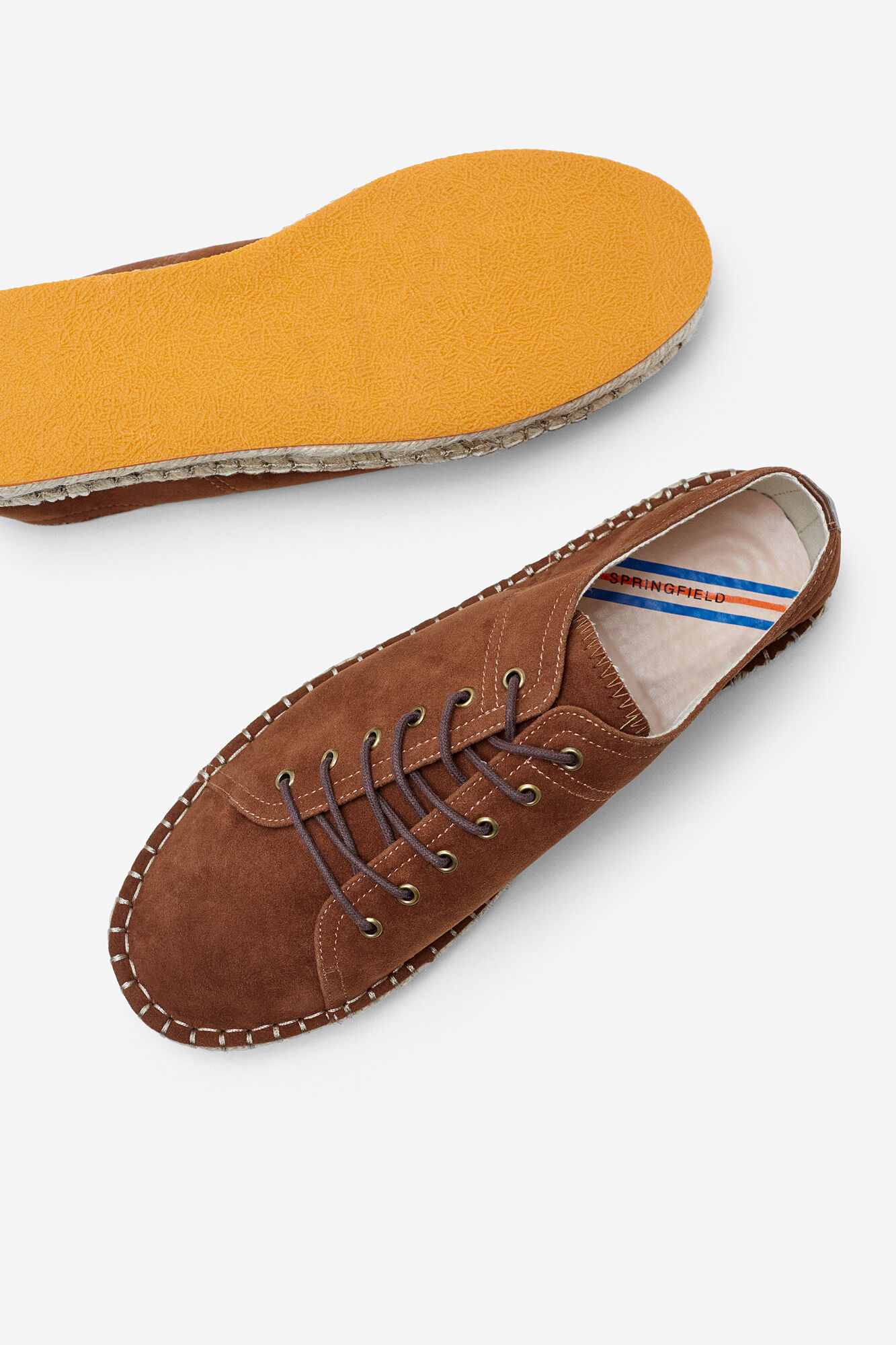 e42316e0d7 LACE-UP JUTE SNEAKERS WITH COLOURED SOLES | Shoes | Springfield Man & Woman