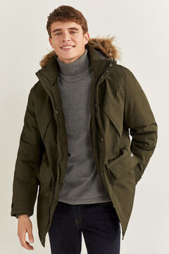 Springfield LONG WATER-REPELLENT PARKA WITH DUPONT™ SORONA® KEEP IT WARM! PADDING grey