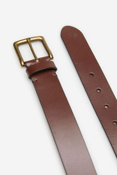 Springfield GOLD BUCKLE LEATHER BELT brown