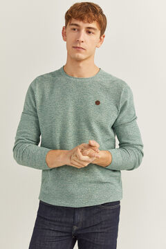 Springfield TEXTURED MOTTLED JUMPER green