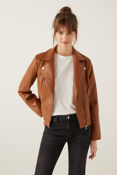 Springfield Biker jacket brown