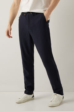 Springfield Pantalon chino lin cordon blau
