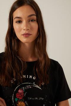 Springfield Organic cotton Dreaming On T-shirt black