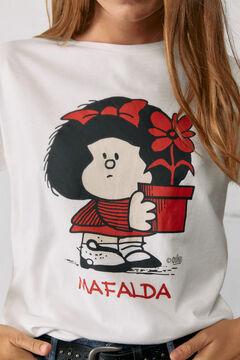 Springfield Mafalda flowerpot T-shirt white