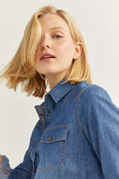 Springfield Essential Denim Shirt blue