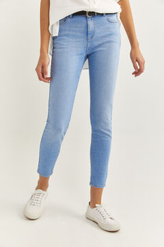 Springfield Slim Fit Cropped Jeans steel blue