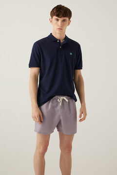 Springfield Retro print swimming shorts natural