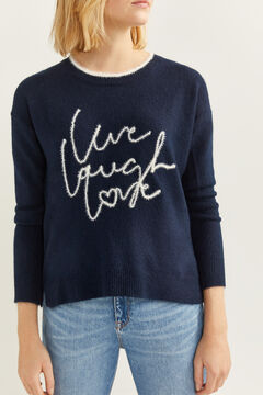 Springfield Live, Laugh, Love Jumper blue