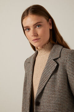 Springfield Checked A-line coat grey