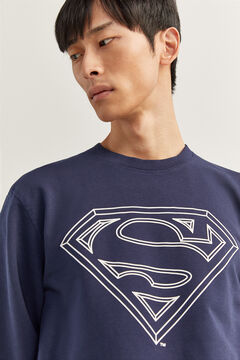 Springfield CREW NECK SUPERMAN SWEATSHIRT bluish