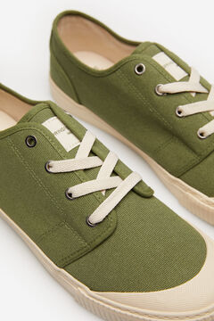 Springfield Rubber toe sneaker in cotton green