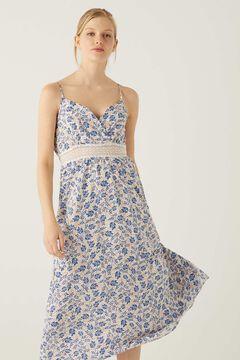 Springfield Lace waist midi dress natural