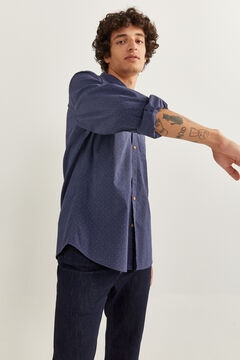 Springfield Camisa estampada navy mezcla