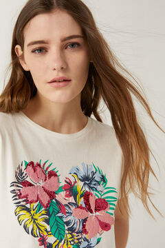 Springfield Tropical floral graphic t-shirt  brown