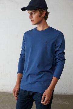 Springfield Camiseta manga larga básica azul