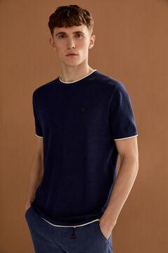 Springfield T-Shirt Zwirn bläulich