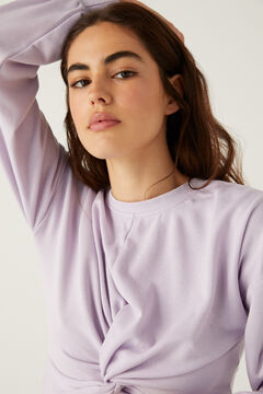 Springfield Crop sweatshirt purple