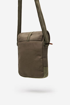 Springfield Khaki combination fabric crossbody bag dark gray