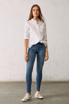 Springfield Jeans body shape lavavage durable bleu acier