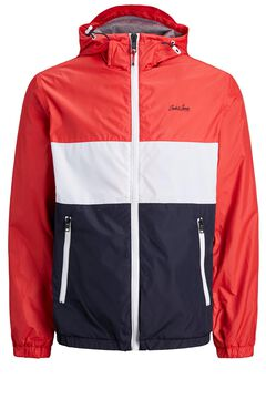 Springfield High neck technical jacket rouge