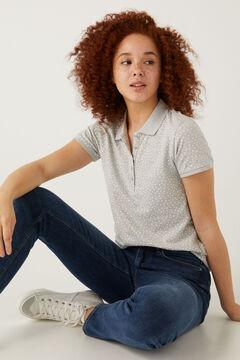 Springfield Organic cotton polo shirt grey