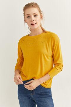 Springfield Camiseta cristales fantasía amarillo