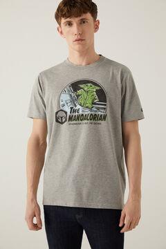 Springfield T-shirt Grogu Mandalorian cinza