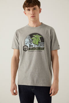 Springfield Grogu Mandalorian póló szürke