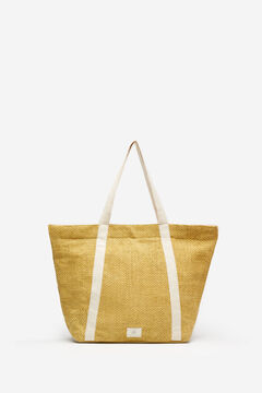 Springfield Hemper Contrast Handle Shopper Bag ocher