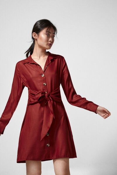 Springfield - Knot shirt dress - 4