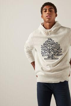 Springfield Tree hoodie grey