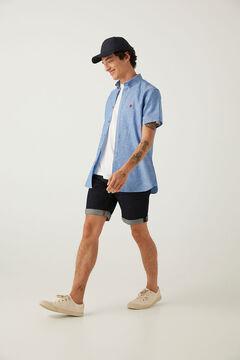 Springfield Camisa manga corta lino color