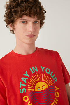Springfield Sun T-shirt terracotta