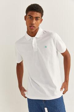 Springfield Essential piqué polo shirt white
