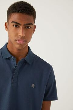 Springfield Slim fit spandex polo shirt blue