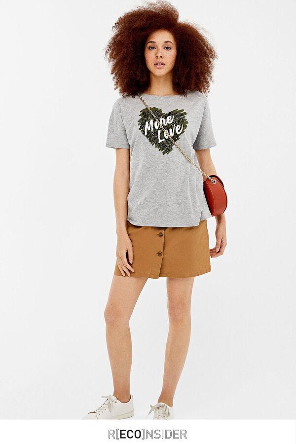 4c65a3a4d Springfield Camiseta estampado gráfico animal gris
