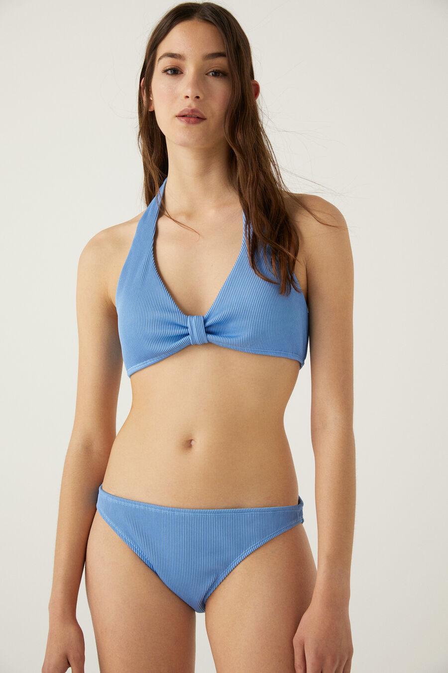 Culotte bikini côtelée