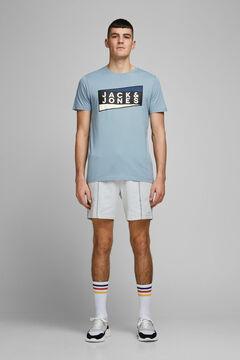 Springfield Organic cotton t-shirt bleuté