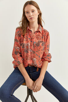 Springfield Printed floaty blouse pink