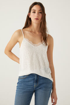 Springfield Camiseta lencera tirantes blanco